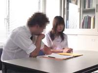 わいせつ指導事件!!補修授業で生徒に迫る変態教師!!(無料AV動画)