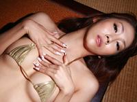 Gカップスレンダー爆乳!!月見栞♪モデル系お姉さんを拘束して・・・[3]